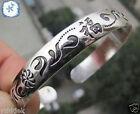 Exquisite Tibet silver carved men's cuff bracelet