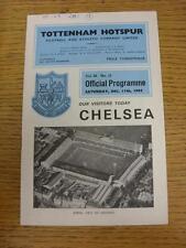 11/12/1965 Tottenham Hotspur v Chelsea (scrivendo sulla cover & Team modifiche). l'oggetto