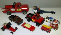 METAL & PLASTIC RANDOM TOY VEHICLE REPAIR OR PARTS LOT OF 9 PCS