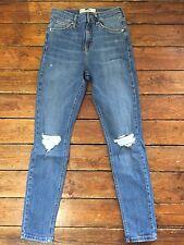 TOPSHOP moto jeans skinny Jamie Ripped Blue Sz 6 w25 to fit l30 m4