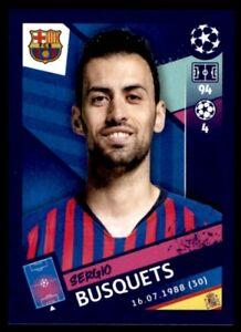 Topps Champions League 2018/19 - Sergio Busquets FC Barcelona No. 15