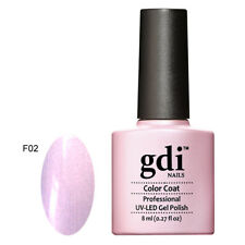 10 Removal Wraps GDI Nails F02 Mrs Pink UV LED GEL Nail Polish Varnish