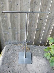 Modernist Stainless Steel Hat Cap Display Stand Necklace Jewellery Shop Display