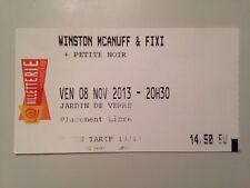 TICKET CONCERT WINSTON MCANUFF & FIXI - CHOLET 8 NOVEMBRE 2013