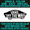 Vans Off The Wall die cut vinyl decal car truck window toolbox laptop sticker