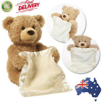 30cm Peek A Boo Teddy Bear Plush Interactive Soft Toy Doll Kids Birthday Gift AU