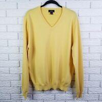 Brooks Brothers 346 Merino Vneck Sweater L Yellow