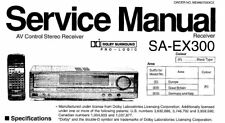 NATIONAL SA-EX300 AV CONTROL STEREO RECEIVER SERVICE MANUAL BOOK IN ENGLISH