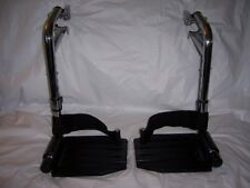 WHEELCHAIR PARTS - INVACARE FOOT RESTS W/ HEEL LOOPS