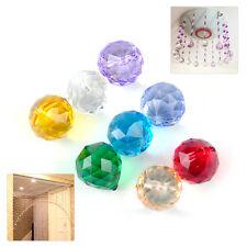 8PCS 20mm Chandelier Crystal Glass Ball Prisms Pendants Lamp Drops Wedding Decor