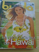 MAGAZINE COUTURE BURDA LE RETOUR DE LA FLEUR HAWAI JUILLET    2005 N° 67