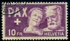 SWITZERLAND #305 10fr Aged Couple, high value in set, used, VF, Scott $125.00