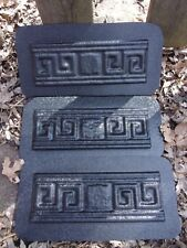 3 plastic Grecian trim molds plaster resin cement molds