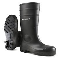 Dunlop Protomastor Black Waterproof Work Safety Wellington Boots Steel Toe Cap