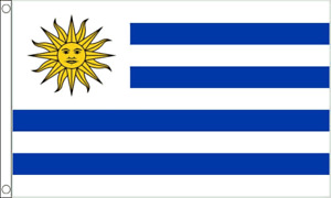 Uruguay Flag - 5 x 3 FT - 100% Polyester National Country South America