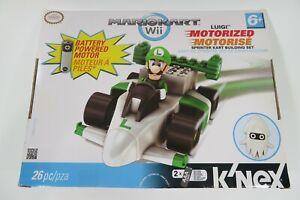 K'NEX Mario Kart Wii Building Set: Luigi's Motorized Sprinter Kart NEW Nintendo