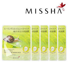 [MISSHA] 3D Snail Serum Cotton Facial Mask Regernating 1 Box 5 Packs Korea