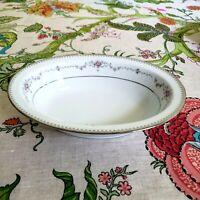 """Noritake China Oval Vegetable Serving Bowl Pink Floral Platinum 10""""  VTG"""