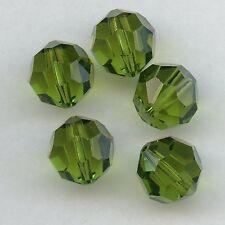 5000 10 O *** 4 perles cristal Swarovski RONDES 10mm  OLIVINE