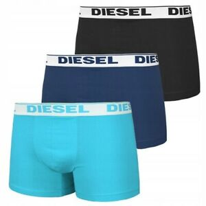 Diesel Mens Boxers Shorts Fresh and Bright 3 Pack Blue Cotton Underwear S M L XL