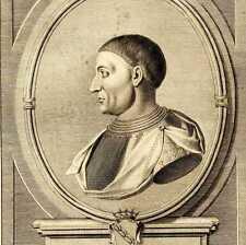 Portrait de Anthony Lorraine Grande Gravure originale XVIIIe