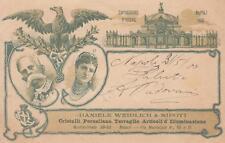 C3516) NAPOLI, CRISTALLI, PORCELLANE, TERRAGLIE, ILLUMINAZIONE WEIDLICH. VG 1900