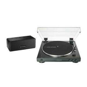 Audio-Technica Bluetooth Turntable Record Player & Speaker Bundle AT-LP60XSPBT