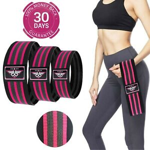BOOM Resistance Bands Fabric Booty Bands Hip Circle Legs Glutes Squat Non Slip