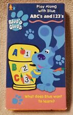 BLUE'S CLUES ABC's and 123's Vhs Video Tape 1999 Nick Jr. Orange Tape