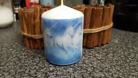 Personalised Hand Made Photo / Picture / Unicorn Candle Gift  2 sizes