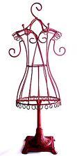 "GRADUATION GIFT ~ RED DRESS JEWELRY STAND ORGANIZER 15"" NECKLACE BRACELET HOLDER"