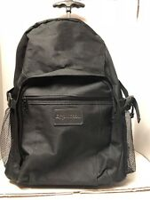 """20"""" Wheel Rolling Backpack Luggage Travel Carry On Suitcase Trolley Exxon Mobile"""