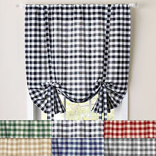 "Buffalo Check Gingham Decorative Tie-Up Window Shade 42"" x 63"""