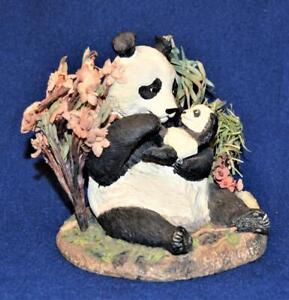 1992 NATURE PRESERVATION Gallery A MOTHER'S LOVE PANDA by Elfie Harris Figurine