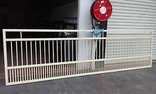 3.8M x 1.2M High ALUMINIUM DRIVEWAY SWING GATE - 50MM X 50MM BOX - 19MM ROUND