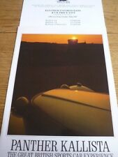 PANTHER KALLISTA SALES BROCHURE 1987 FOR 1988 INCLUDING PRICES