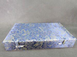 Fine Chinese 10 Lattice Dragon Pattern Snuff Bottle Brocade Box
