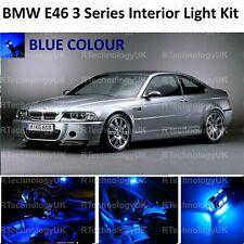 BLUE PREMIUM BMW E46 3 SERIES SALOON COUPE LED INTERIOR UPGRADE KIT SET XENON