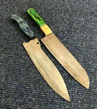 Alistar Set of 2 Handmade Damascus Knife Hunting/ Kitchen/Chef's Knives (1-1