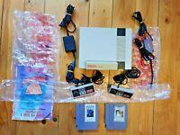 NES BUNDLE W 2 GAMES 2 CONTROLLERS NINTENDO ENTERTAINMENT SYSTEM PAL SEE DESCRIP