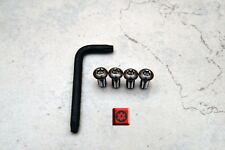 Ant-Theft *BLACK NICKEL* Security Screws for AUDI REAR License Plate Frame