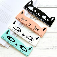 Lovely Cat Shape Ruler Kitten Animal Straight Ruler For Kids School Supplies