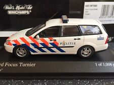 Minichamps 1:43 Ford Focus Estate/Break Politie 1997, Not Displayed, Superb!