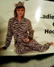 Zebra Hooded Non Footed Pajamas Fleece 1 PC Costume Adult XXL NWT LAST ONE