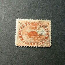 Canada Stamp Scott# 15 Beaver 1859 L321