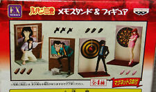 NEW Banpresto Lupin The 3rd MEMO-STAND & FIGURE COMPLETE SET of 4 USA SELLER
