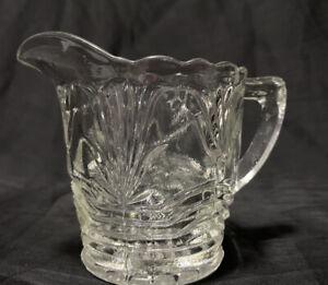 Small Vintage Depression Glass Milk Jug   8cm tall
