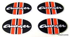 Aunger mag wheel centre cap sticker *set of 4* 48x28mm