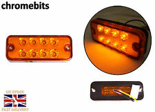 8X 12 VOLT ORANGE SIDE MARKER LIGHT INDICATOR LAMPS TRUCK LORRY LGV HGV BUS LED