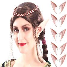 5 paar extra lange spitze Elfen Ohren Hautfarben Spitzohren Elfenohren Elfe